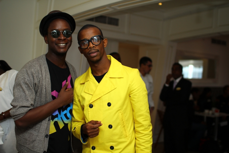 Onos Ovueraye and Zakes Bantiwini at the MTV Africa All Stars press conference
