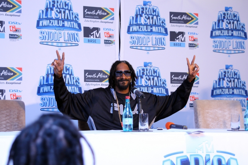 Snoop Lion at the MTV Africa All Stars press conference (4)