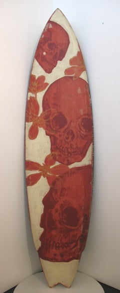 Front: Red Skulls and Flowers