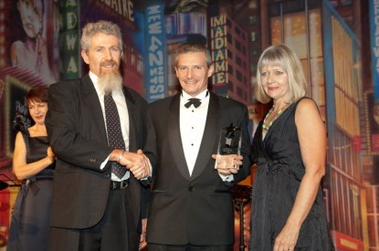 David and Joanne accepting the 2012 FIAA National Awards