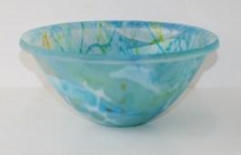 """Vivienne Jaggar """"Blue Lagoon"""" Glass Bowl"""