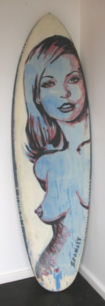 Db119 Surfboard Front Blue Nude