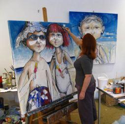 Christine-Hingston-in-studio-2012