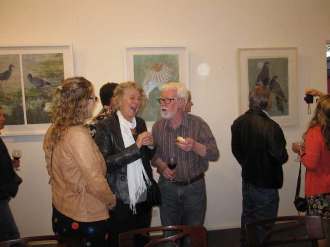 A social catch up while enjoying Kay Gibson Artworks