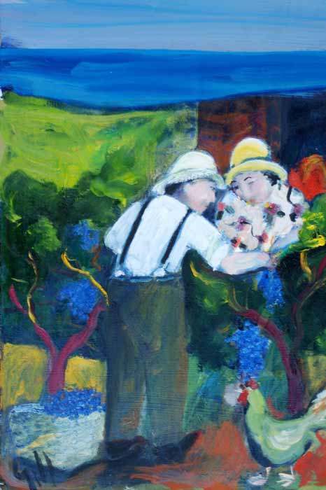 Murray-Gill-Vineyard-couple-with-hens - SOLD