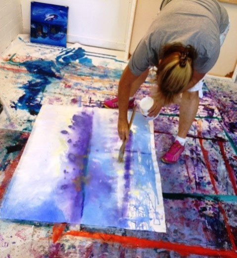 Di-Taylor-Artist-Studio-painting-from-Crawley