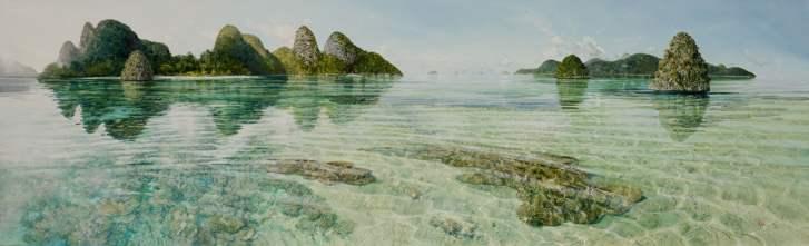 Wayag, Raja Ampat, West Papua New Guinea, 300x90cm