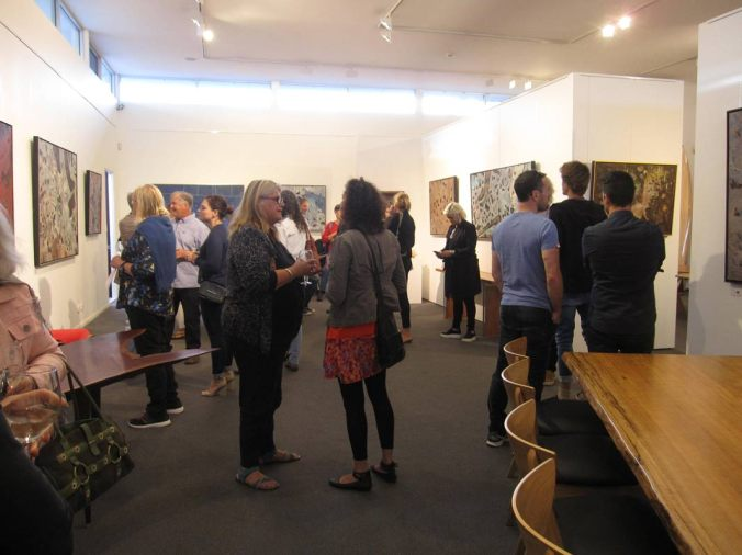 Bec Juniper exhibition opening night Fine Art