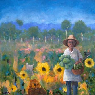 Helen-Norton-Cabbage-Gardener-painting