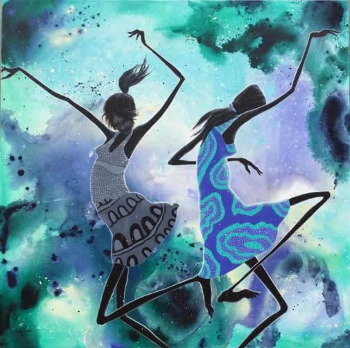 Desert Dancers In The Monsoon - SOLD