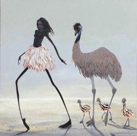 Emu Girl - SOLD