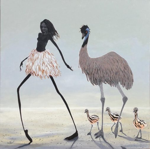 Emu Girl - SOLD