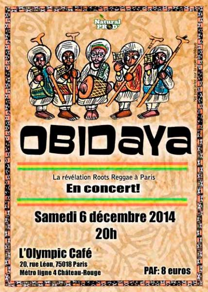 [75] - OBIDAYA (ROOTS REGGAE) @ OLYMPIC CAFE