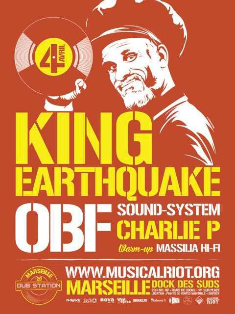 [13] - MARSEILLE DUB STATION #29 : KING EARTHQUAKE + OBF SOUND-SYSTEM feat. CHARLIE P + MASSILIA Hi-Fi