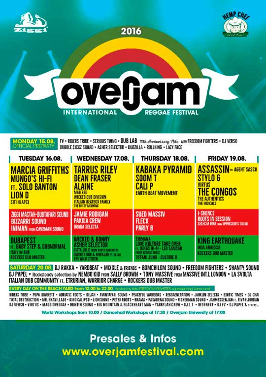 [SI] - OVERJAM INTERNATIONAL REGGAE FESTIVAL