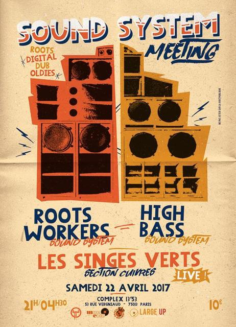 [75] - ROOTS WORKERS meets HIGH BASS + LES SINGES VERTS (Horns Section)