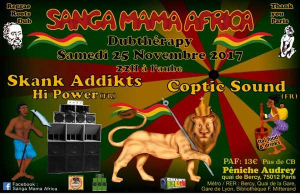 [75] - SANGA MAMA AFRICA - DUB THERAPY : SANGA MAMA AFRICA & SKANK ADDIKTS Hi-POWER + COPTIC SOUND