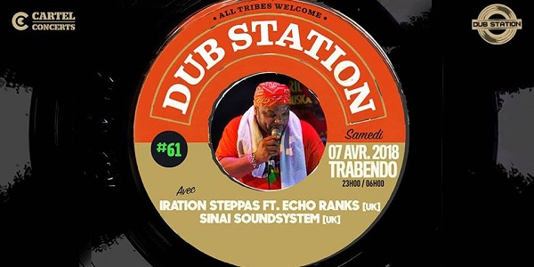 [75] - DUB STATION #61 - IRATION STEPPAS feat. ECHO RANKS + SINAI SOUNDSYSTEM
