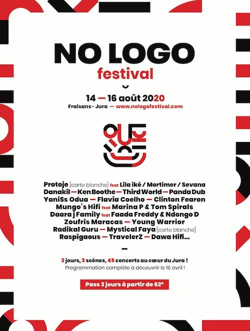 [ANNULÉ] - NO LOGO FESTIVAL 2020 - TIKEN JAH FAKOLY + ALPHA BLONDY + PROTOJE & THE INDIGGNATION + TAÏRO