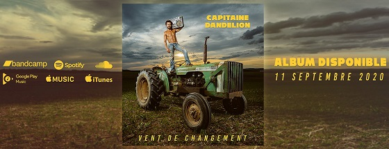 capitaine dandelion vent de changement flyer