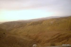 Steep valleys en route to Border