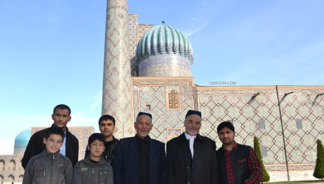 With elders of Samarkand