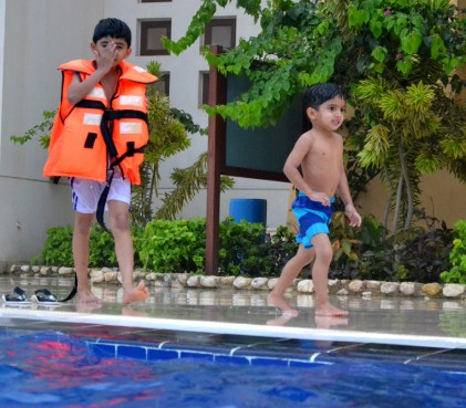 Kids at Pool , Salalah