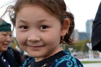 Uzbek girl near White Masjid, Tashkent