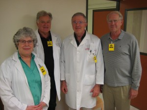 The doctors who volunteer at the Oregon Youth Authority's tattoo removal program are Dr. Carolyn Hale, Dr. Harold Boyd, Dr. J. Mark Roberts and Dr. Michael Wicks.