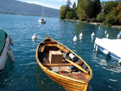 Barque à Angon, lac d'Annecy