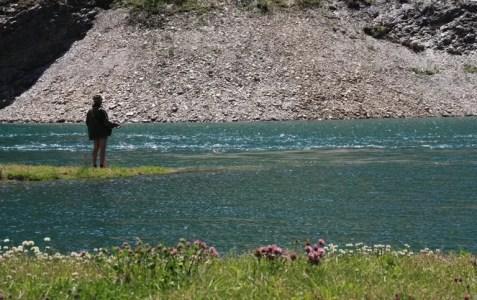 pêcheur sur lac