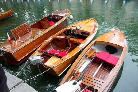 bateaux en bois à Annecy