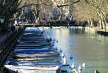 bateaux depuis le pont des amours