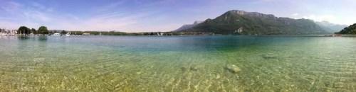 Annecy, eau transparente