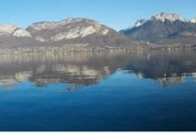 Miroir au lac d'Annecy