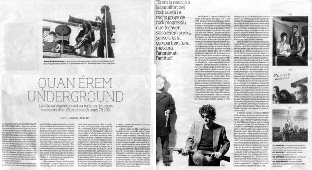 «Quan érem underground» artículo de Xavier Theros.