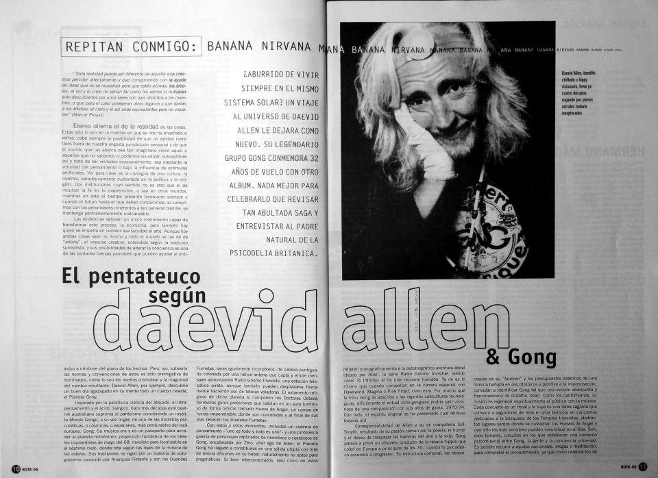 El pentateuco según Daevid Allen & Gong por Jaime Gonzalo parte 1 de 4