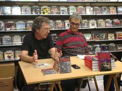 Con Fernando Gegúndez en la presentación de 'Sobrevivir al paraíso' y 'Poder freak vol. 3'