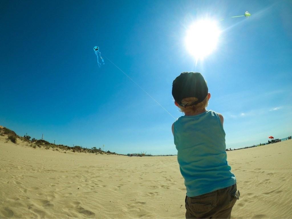 Arc en Ciel sur une plage dans L'Hérault