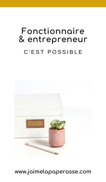 Créer une entreprise quand on est fonctionnaire, c'est compliqué mais possible. Focus sur les conditions et les démarches des différentes autorisations de cumul dans cet article de J'aime la paperasse. #entrepreneuriat #administratif