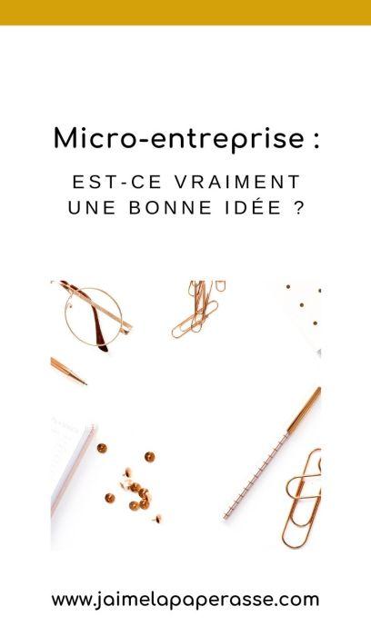 Quand on veut créer son entreprise, on pense tout de suite à la micro-entreprise ou au statut d'autoentrepreneur, mais est-ce vraiment une bonne idée pour TOI ? Un article de J'aime la paperasse #entrepreneuriat #businesstips