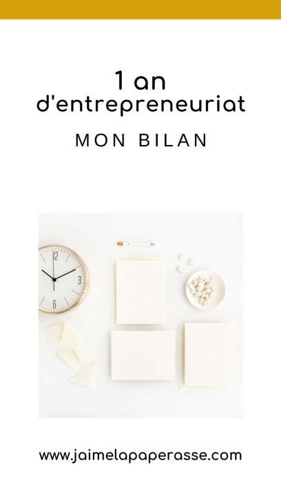 Retour d'expérience : mon bilan après un an d'entrepreneuriat. Un article de J'aime la paperasse #microentreprise #autoentrepreneur