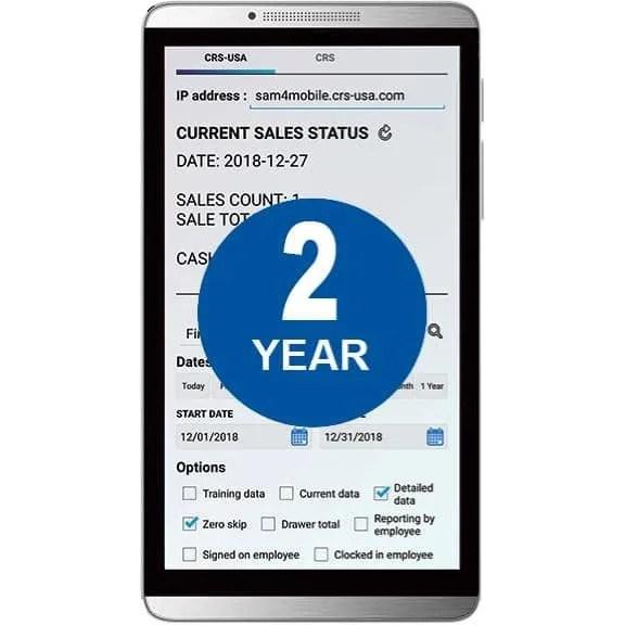 Sam4POS Mobile App - 2 Year License  JaimePOS A Leading POS & Merchant Services Provider
