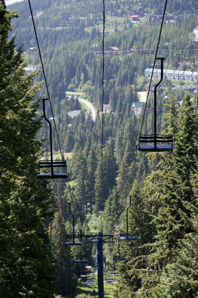 One of the best things to do in Sandpoint is take the Quad chair lift up Schweitzer Mountain