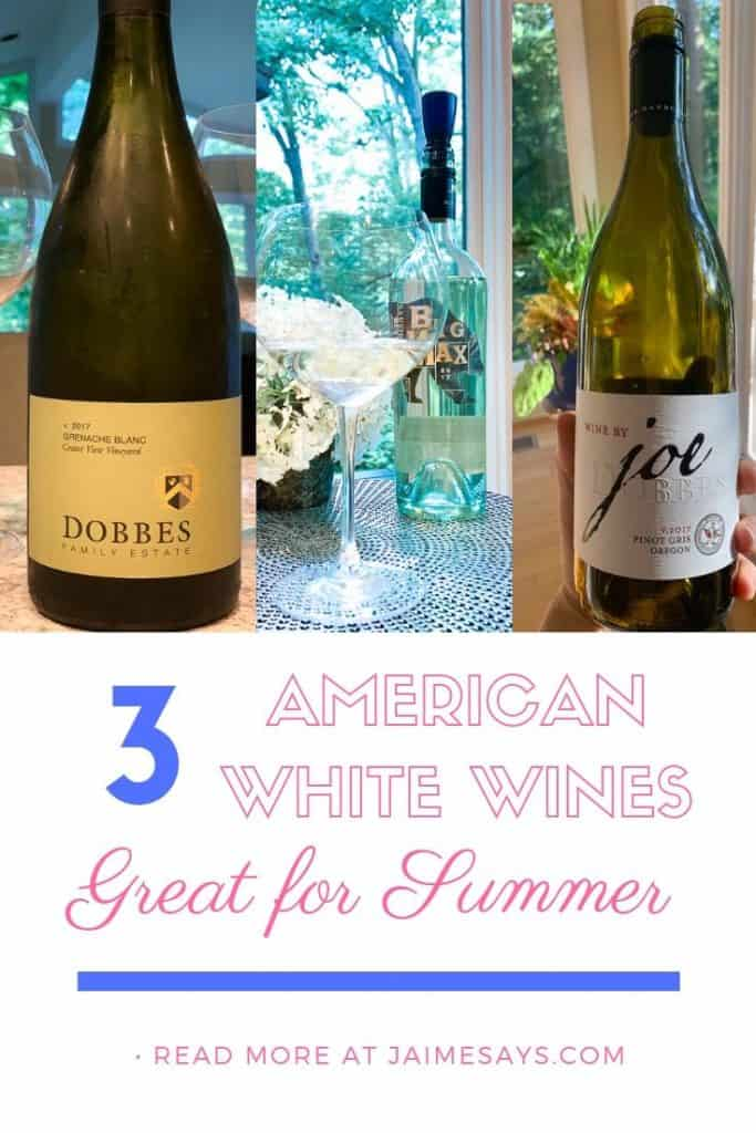 Three American White Wines for the Dog Days of Summer