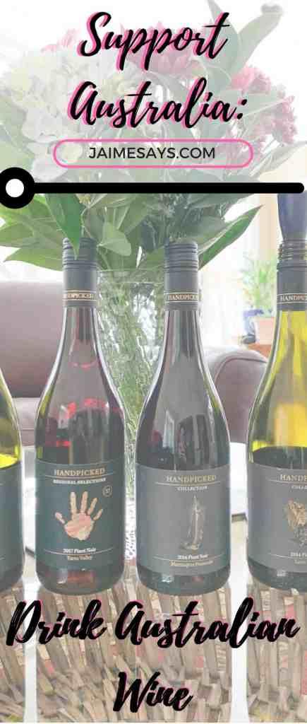 Support Australian Pinot Noir Pin