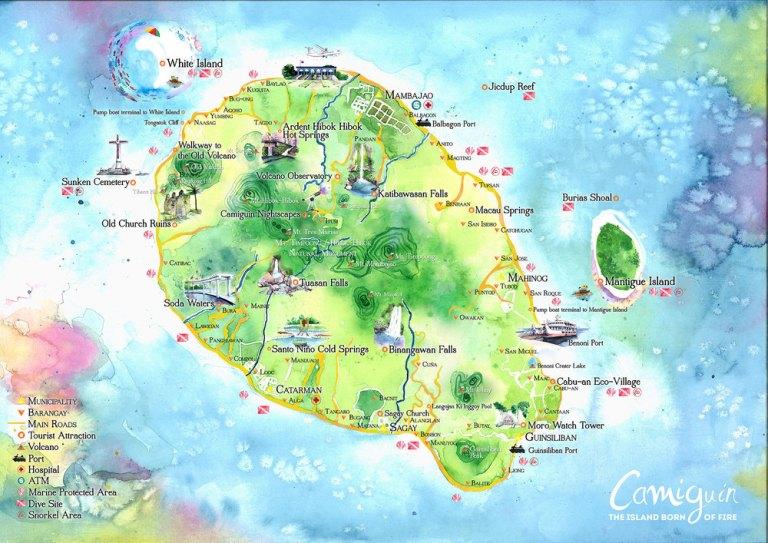 mapa turistico camiguin