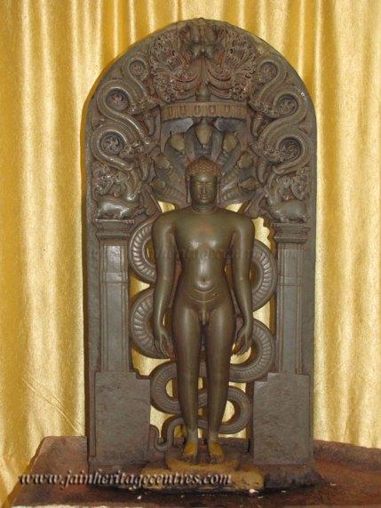 Parshwanath Tirthankar in Kayotsarga at Sri Parshwanath Digambar Jain temple, Penukonda.