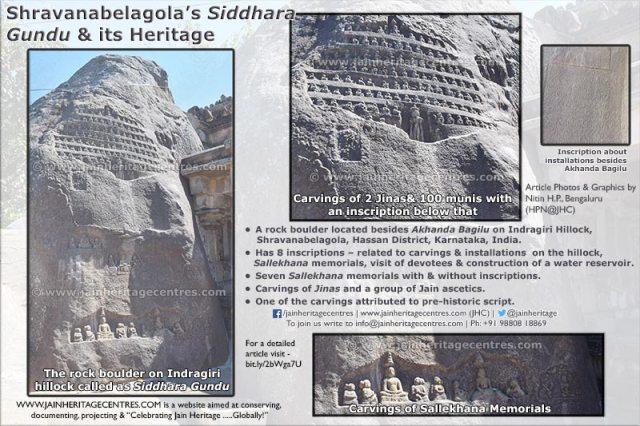 Shravanabelagola's - Siddhara Gundu and its heritage