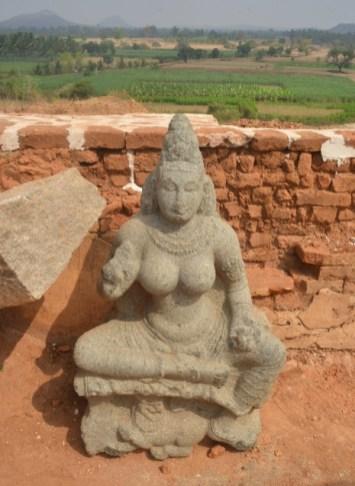 Ambika, who was the yakshi of Neminatha, one of the 24 Jaina tirthankaras. She is seated on a throne borne by a lion. Photo:K. BHAGYA PRAKASH